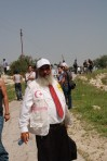 Canadian friend at Belin in West Bank protest